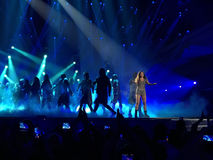 Eurowizyjny w Ukraina, Kyiv 05 13 2017 editorial Ruslana grzechy Zdjęcie Royalty Free