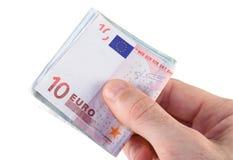 Eurozahlung lizenzfreie stockfotografie