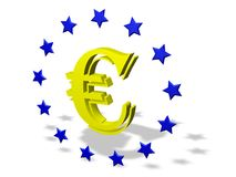 Eurozeichen Stockfotos