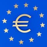 Eurozeichen und die Sterne stock abbildung