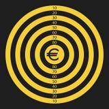 Euroziel vektor abbildung