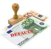 eurozone кризиса финансовохозяйственный стоковая фотография