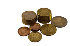 EuroZone Coins Stock Photos
