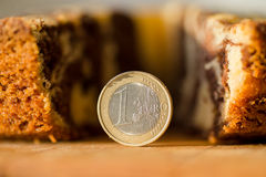 Eurozone crisis. Euro in place of the piece of pie Stock Photos