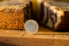 Eurozone crisis. Euro in place of the piece of pie Royalty Free Stock Image