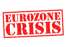 EUROZONE CRISIS. Red Rubber Stamp over a white background Stock Image