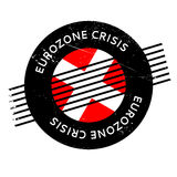 Eurozone Crisis rubber stamp. Grunge design with dust scratches. Effects can be easily removed for a clean, crisp look. Color is easily changed Stock Image