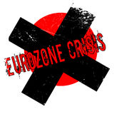 Eurozone Crisis rubber stamp. Grunge design with dust scratches. Effects can be easily removed for a clean, crisp look. Color is easily changed Stock Photos