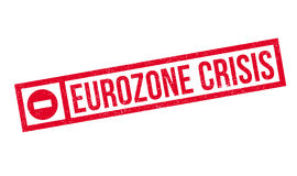 Eurozone Crisis rubber stamp. Grunge design with dust scratches. Effects can be easily removed for a clean, crisp look. Color is easily changed Royalty Free Stock Photos