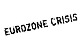 Eurozone Crisis rubber stamp. Grunge design with dust scratches. Effects can be easily removed for a clean, crisp look. Color is easily changed Royalty Free Stock Photography