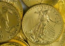 Eurozone Euro munt, gedeeltelijke mening van bankbiljetten Royalty-vrije Stock Foto's