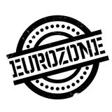 Eurozone rubber stamp. Grunge design with dust scratches. Effects can be easily removed for a clean, crisp look. Color is easily changed Stock Photography