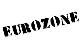Eurozone rubber stamp. Grunge design with dust scratches. Effects can be easily removed for a clean, crisp look. Color is easily changed Stock Image