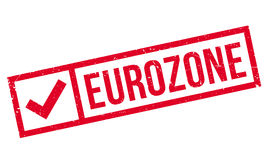Eurozone rubber stamp. Grunge design with dust scratches. Effects can be easily removed for a clean, crisp look. Color is easily changed Royalty Free Stock Images
