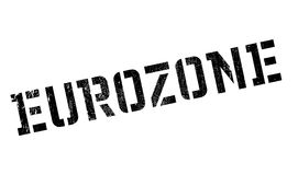 Eurozone rubber stamp. Grunge design with dust scratches. Effects can be easily removed for a clean, crisp look. Color is easily changed Royalty Free Stock Image