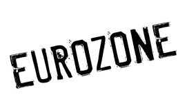 Eurozone rubber stamp. Grunge design with dust scratches. Effects can be easily removed for a clean, crisp look. Color is easily changed Stock Photo