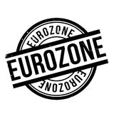 Eurozone rubber stamp. Grunge design with dust scratches. Effects can be easily removed for a clean, crisp look. Color is easily changed Stock Photos
