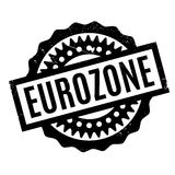 Eurozone rubber stamp Stock Images