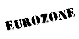 Eurozone rubber stamp Royalty Free Stock Images