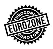 Eurozone rubber stamp Royalty Free Stock Photo