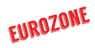 Eurozone rubber stamp Royalty Free Stock Photography