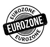 Eurozone rubber stamp Stock Photography
