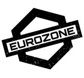 Eurozone rubber stamp Royalty Free Stock Image