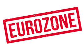 Eurozone rubber stamp Royalty Free Stock Photos