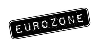 Eurozone rubber stamp. On white. Print, impress overprint Royalty Free Stock Photos