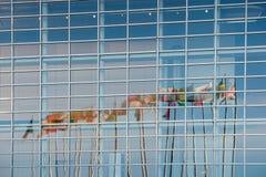 Eurozone zaznacza reflectig w UE parlamentu budynku Obrazy Stock