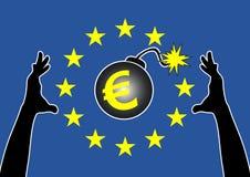 Eurozoneräddningsaktionplan vektor illustrationer