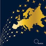 Eurpe Map. 12 Europe Countries, for sport and financial using Stock Photo