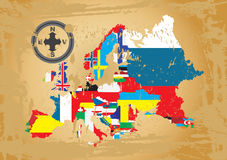 Eurpean country flags Royalty Free Stock Images