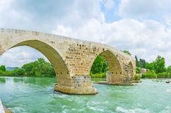 The Eurymedon Bridge in Aspendos Royalty Free Stock Photography