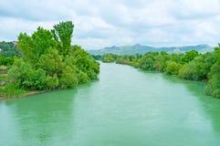 The Eurymedon river in Aspendos Stock Photos