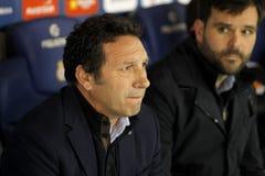 Eusebio Sacristan coach of Real Sociedad Stock Photos