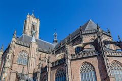 The Eusebius church in Arnhem in the Netherlands. The big Eusebius church in Arnhem in the Netherlands,. The curich was build during the middle ages stock photo