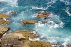 euskadi风大浪急的海面 库存图片