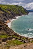 Euskadi de Espa?a del mar de la playa del paisaje imágenes de archivo libres de regalías