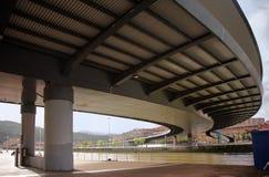 Euskalduna bridge. Botom view and river Royalty Free Stock Image