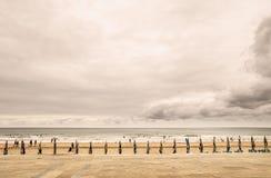 Euskalerria海滩 免版税图库摄影