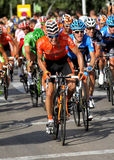 Euskaltel-Euskadi spanish cyclist Igor Anton. Rides with the pack during the Vuelta Ciclista a Espana cycling race in Barcelona on August 26, 2012 Stock Photography