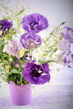 Eustoma flowers bouquet Stock Images