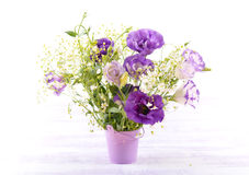 Eustoma flowers bouquet Stock Image