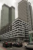 Euston torn och Triton byggnad, London Arkivfoton
