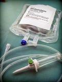 Eutanásia de Vial With Midazolam Used For e Inyecion letal em um hospital imagens de stock royalty free