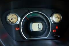 Ev Car dashboard Stock Photos
