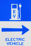 EV Electric Vehicle Charging Station Sign Royalty Free Stock Photo