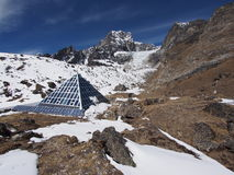 Ev-K2-CNR, alias die italienische Pyramide, Everest-Region, Nepal Lizenzfreies Stockfoto