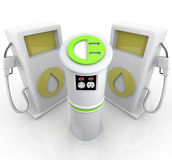 EV - Station de charge de véhicule électrique Photos libres de droits